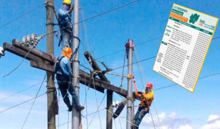 Arequipa: Cortes de electricidad escalonados en 11 distritos desde martes 10