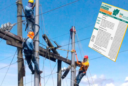Corte de servicio eléctrico en 5 distritos de Arequipa y en Islay, miércoles 19