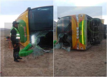 Caravelí: dos muertos y 30 heridos tras despiste de bus