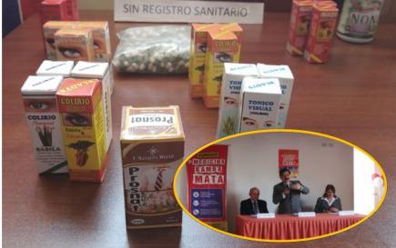 Inspección halla medicinas bamba en mercados y farmacias de la ciudad