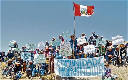 Gobierno declara en emergencia por cuarta vez al corredor minero del Cusco