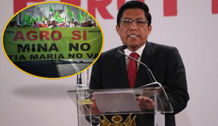 Tía María: Primer ministro anunció que comisión de OEFA evaluará Estudio de Impacto Ambiental