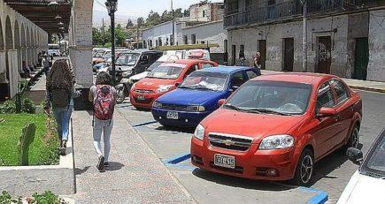 Arequipa: MPA retirará zonas azules del Centro Histórico desde noviembre