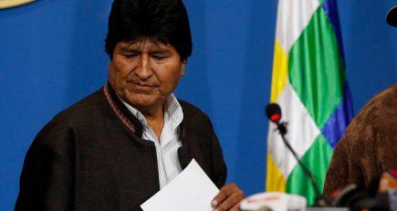 Saqueos y violencia en Bolivia tras renuncia de Evo Morales y su gabinete