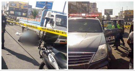 Arequipa: Mujer policía muere atropellada en óvalo de Mariscal Castilla