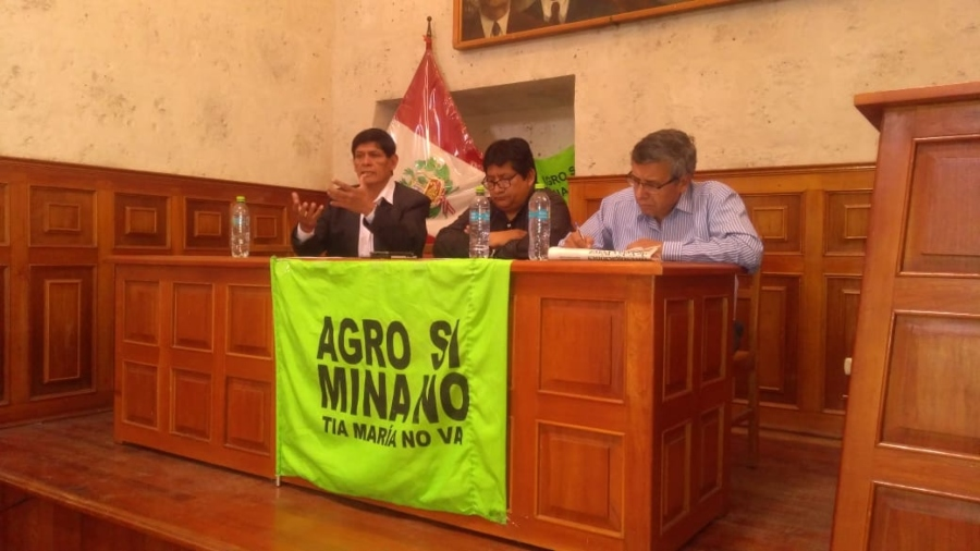 Comando de lucha del valle de tambo anuncia movilización contra Tía María