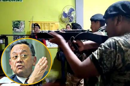 Etnocaceristas «fusilan» a Edgar Alarcón y rechazan su candidatura (VIDEO)