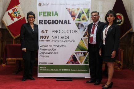 Promoción de productos nativos de producción local en feria de la UNSA