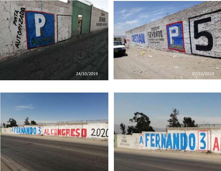 Acusaron al candidato Fernando Cornejo de APP de que sus pintas se colocaron encima de la propaganda de otros postulantes en las Elecciones 2020