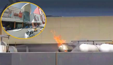 Arequipa: Controlan incendio por fuga de gas en mall Real Plaza