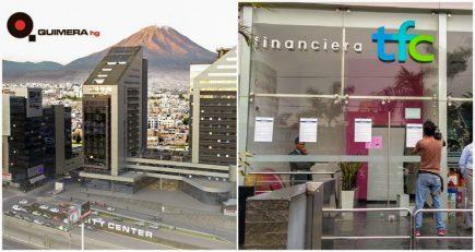 Inmobiliaria Quimera niega responsabilidad en cierre de Financiera TFC