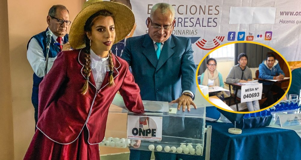 Arequipa sorteo miembro de mesa ONPE elecciones congreso 2020