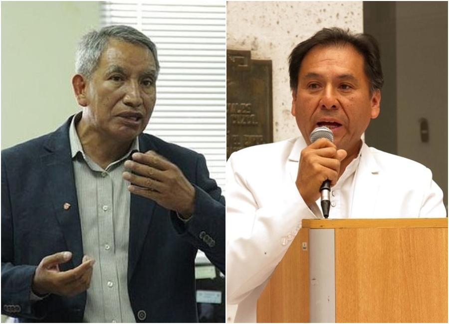 Gerente de Salud Gregorio Palma y exgerente de Salud Carlos Cuya
