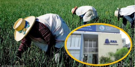 Agricultores denuncian que Autoridad Nacional del Agua los perjudica