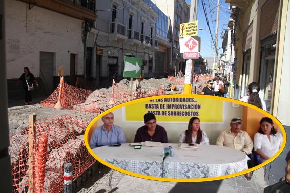 La junta de comerciantes y vecinos del eje vial Jerusalen - San Juan de Dios, confirmaron que denunciarán al alcalde Omar Candia y sus gerentes.