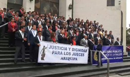 Jueces de Arequipa decidirán esta semana si retoman huelga blanca