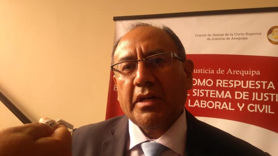 Edgar Pineda, decano de la Junta de Jueces de Arequipa