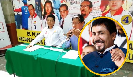 El candidato para las Elecciones 2020, Hubert Alvarez, de Democracia Directa, afirmò que siente identificacion con Caceres Llica y que apoya su gestiòn.