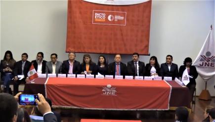 Elecciones 2020: Candidatos firman pacto para evitar guerra sucia