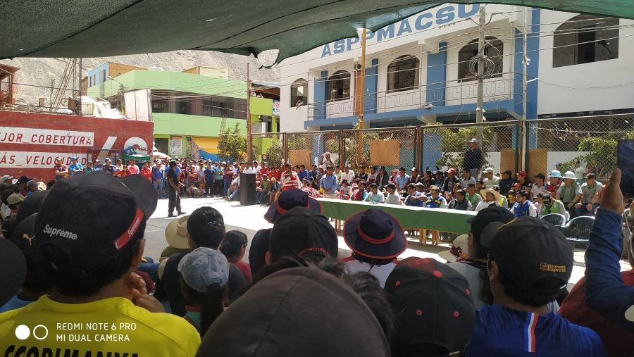 Población protesta por violencia en Secocha