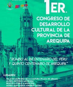 Primer Congreso de Desarrollo Cultural en Arequipa