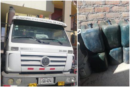 Conductor de la municipalidad de Cayma es detenido cuando robaba combustible