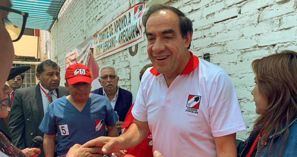 Arequipa Yonhy Lescano acción popular elecciones 2020