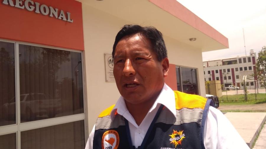 Alfonso Mamani, jefe del Centro de Operaciones de Emergencia Regional (COER)