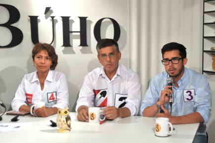 Café Electoral: candidatos de Acción Popular, Vamos Perú y Partido Morado