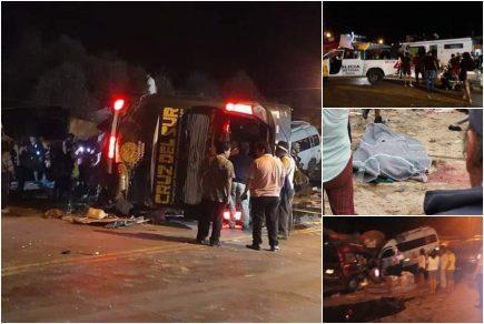 Accidente en Arequipa: 16 muertos deja hasta el momento choque de bus Cruz del Sur (VIDEO)
