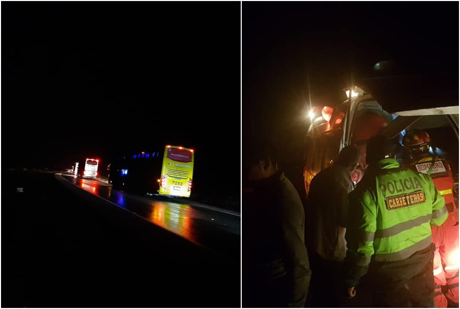 Accidente de bus de la empresa Sodexo en la Panamericana Sur, en Arequipa