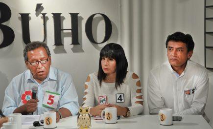 Café Electoral: candidatos de Frente Amplio, PPC y Fuerza Popular