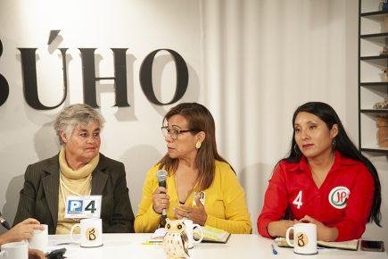 Café Electoral: candidatas Juana Vélez, Giovanna Medina y Vanessa Chihuanhuaylla