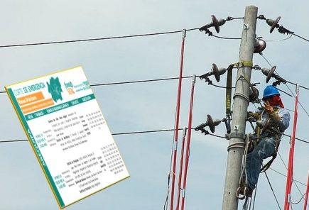 Arequipa: corte de servicio eléctrico en 4 distritos este miércoles 23
