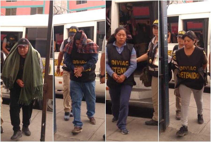 Servidores del Poder Judicial y dos civiles fueron detenidos por cobro irregular de reparaciones civiles en Arequipa