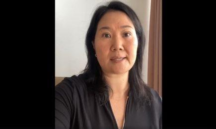 Último mensaje de Keiko Fujimori antes de ser encarcelada (VIDEO)