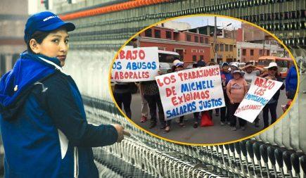 Trabajadores de Michell Alpaca reclaman aumento de salarios