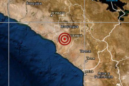 Fuerte sismo se registró esta madrugada en Arequipa y Moquegua