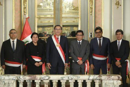 ACT Crisis Ministerial: Cuatro ministros nuevos juramentaron el cargo