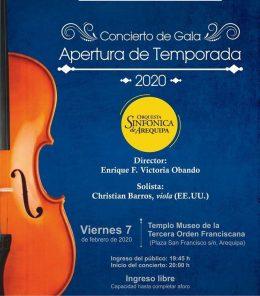 Concierto de apertura de la Orquesta Sinfónica de Arequipa