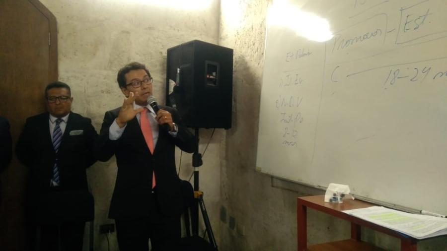 Javier Rospigliosi, jefe de la Oficina de Presupuesto del Gobierno Regional defendió firma de al adenda 13 de Majes Siguas II
