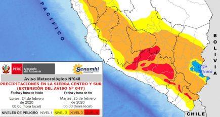 Lluvias en Arequipa: alerta por precipitaciones fuertes y tormentas eléctricas