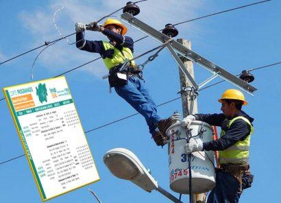 Corte de servicio eléctrico en 6 distritos de Arequipa y en Caravelí, sábado 22