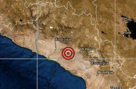 Sismo de 4.1 de magnitud remeció Arequipa
