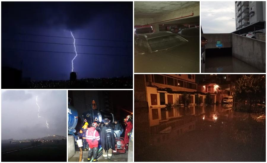 tormenta eléctrica con fuertes lluvias en Arequipa