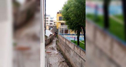 Torrentera Chullo arrastró cimientos de 4 viviendas que colapsaron en Yanahuara (FOTOS)