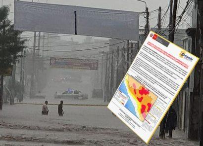 Arequipa: Senamhi advierte de intensas lluvias hasta el viernes 20