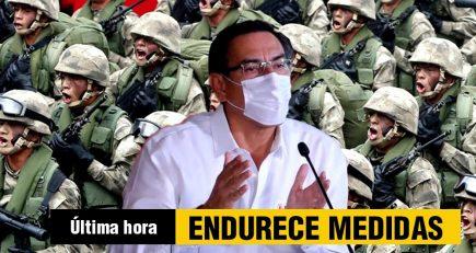 Gobierno endurece toque de queda ante avance del coronavirus en Perú