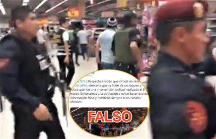 Coronavirus: difunden falso video de saqueo en Plaza Vea (Fake News)