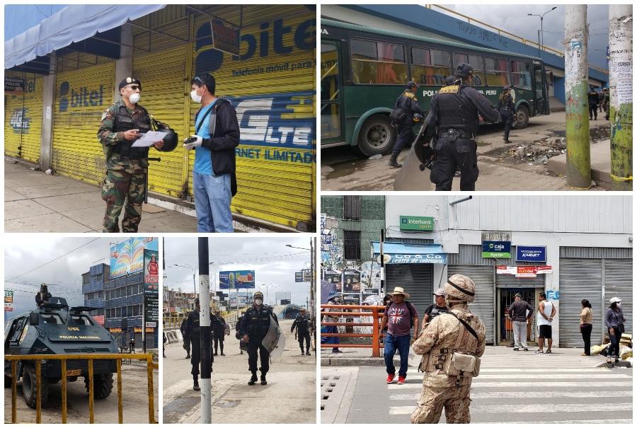 Arequipa: detienen a personas que vagaban por mercados incumpliendo el Estado de Emergencia